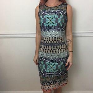 Clover Canyon Printed Sleeveless Scuba Flaw Dress